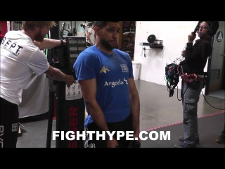 AMIR KHAN INTENSE STRENGTH TRAINING ROUTINE BULKING UP WITH AIR RESISTANCE