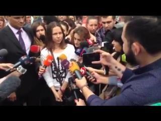 Киев.25 мая,2016.Вера Савченко прибыла в Борисполь.