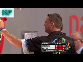 Gary Anderson vs Kevin Painter (World Grand Prix 2014 / Quarter Final)
