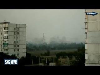 Сумашедший обстрел блокпоста в сторону Широкино из РСЗО Град!ДОНЕЦК,ЛУГАНСК,АТО,УКРАИНА
