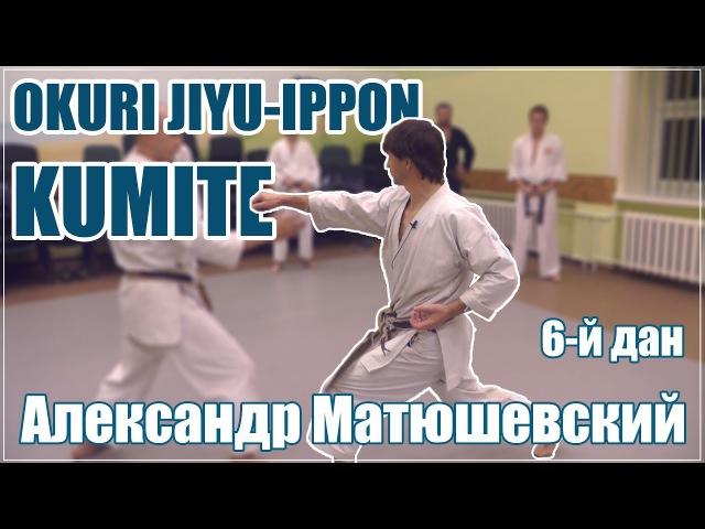 Okuri Jiyu Ippon Kumite с А Матюшевским 6 дан