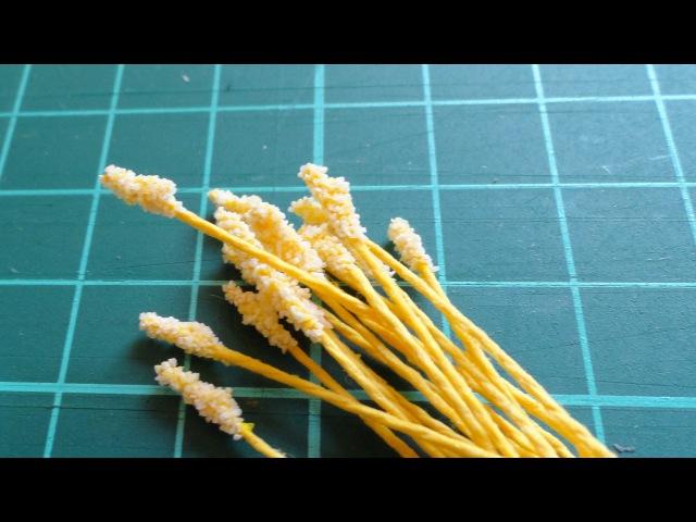 Как сделать тычинки для цветов своими руками. Мастер класс цветы из бумаги. Скрапбукинг, ч.10