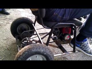 Самодельный трехколесный велосипед из бензокосы