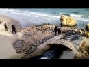 скала на пляже отрада в одессе , ноябрь