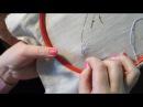 Уроки вышивания. Создаем нитками цветок на ткани. Несколько техник в одном уроке.