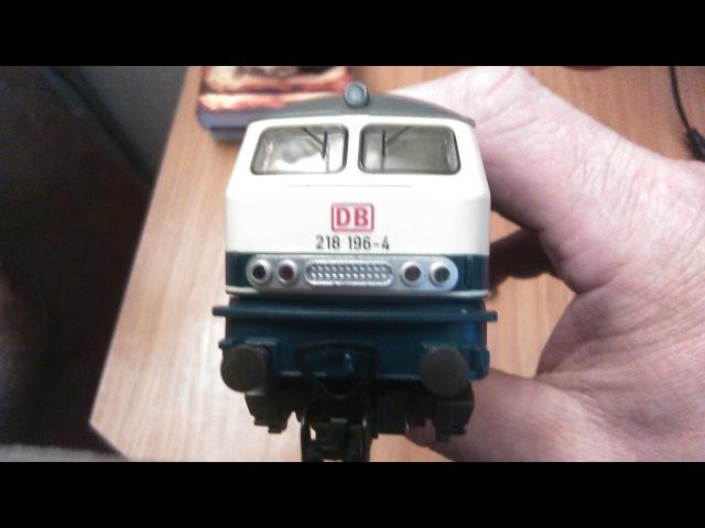 Модернизация локомотива DB218, легко и просто.