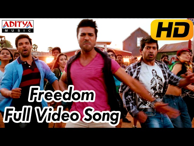 Yevadu Movie    Freedom Full Video Song    Ram Charan, Allu Arjun, Shruti Hassan, Kajal