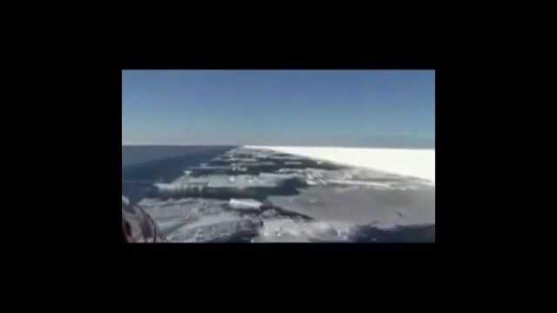 Лед в Антарктиде подрезают НЕИЗВЕСТНО ЧЕМ НЕИЗВЕСТНО КТО