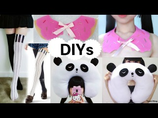 3 Creative DIYs: DIY Piano Thigh Highs+DIY Panda Travel Neck Pillow+DIY Bitten Donut Collar
