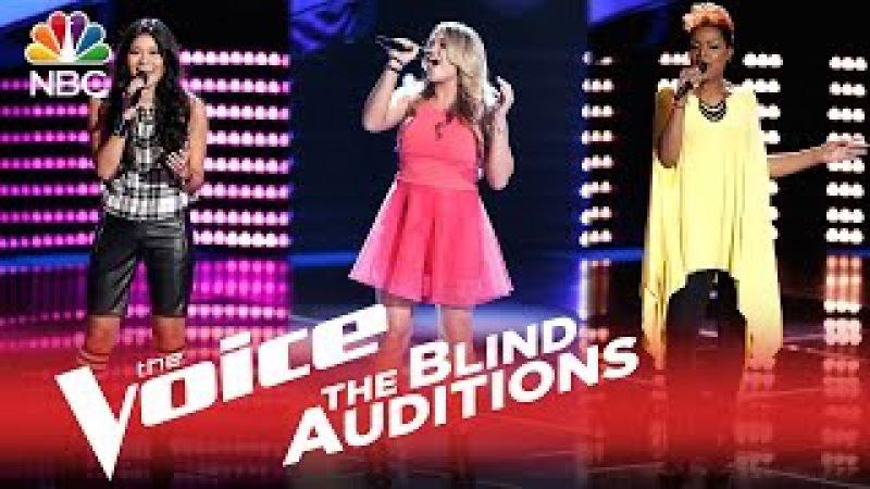 The Voice 2015 - Blind Audition Montage Riley Biederer, Cassandra Robertson, Daria Jazmin