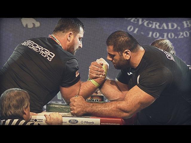 Genadi KVIKVINIA vs Levan SAGINASHVILI at WORLD ARMWRESTLING CHAMPIONSHIP 2016