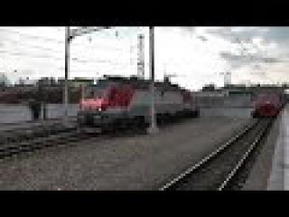 """Электровоз ЭП20-038 с фирменным поездом """"Полонез"""""""