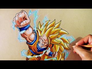 Cómo Dibujar a Goku SSJ3   Dragon Ball Z   How to Draw Goku SSJ3   ArteMaster
