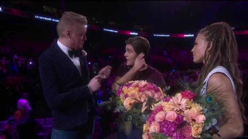 Vinnar intervju med Mariett och Benjamin Ingrosso Melodifestivalen Malmö 11 02 2017