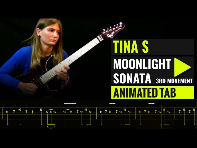 LUDWIG VAN BEETHOVEN MOONLIGHT SONATA 3RD MOVEMENT TINA S Cover Animated Tab