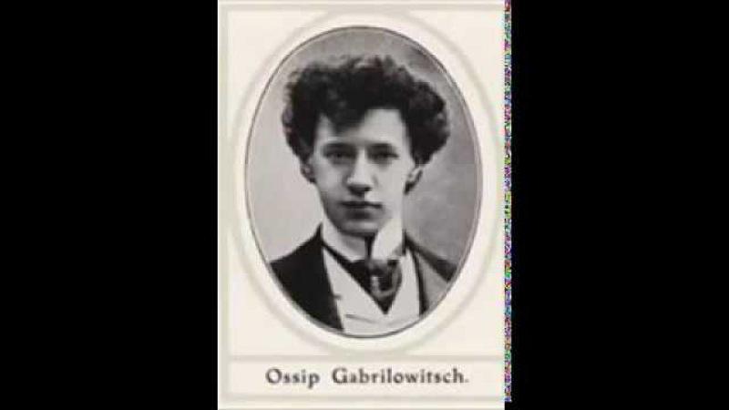 Gabrilowitsch Ossip Chopin Valse e moll