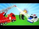 Yardımcı arabalar 🚌 Yeşil otobüs KAZA yapıyor ve yangın çıkıyor 🔥 çizgifilmoyuncakları