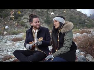 Красивый рождественский кавер песни jingle bells - jingle bell rock (live) - us the duo