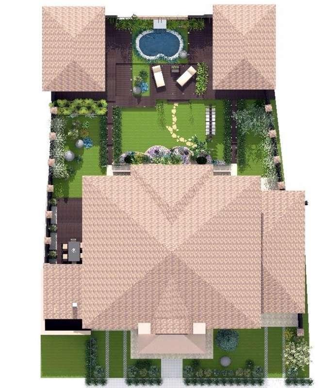 Идея ландшафтного дизайна. Сад в современном стиле, изображение №5