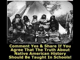 Native american history should be taught... native american indians
