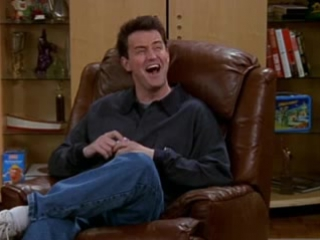 friends: Chandler`s laughing