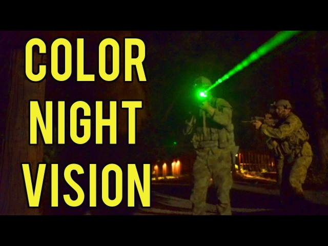 Color Night Vision at Evike Airsoft Camp   Night Game with Red and Green Tracers