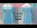 Patrón blusa amplia a crochet o ganchillo Encaje de Brujas 1 2