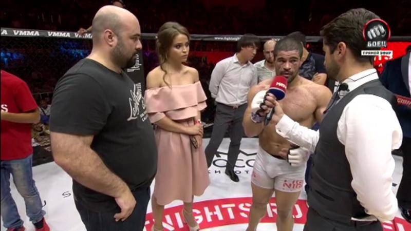 Интервью Русимара Пальяреса после боя с Шамилем Амировым