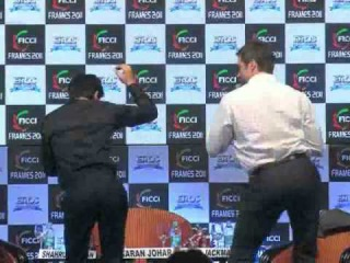 SRK - Hugh Jackman At 'FICCI Frames 2011' Unplugged -