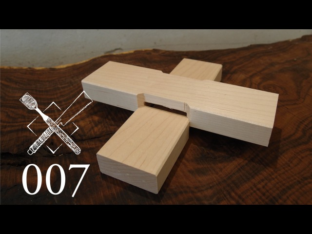 Joint Venture Ep 7 Cross lap with mitered abutments Western Japanese Joinery