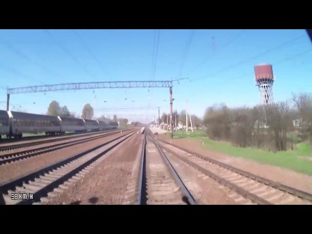 Орша Центральная Минск Пассажирский из кабины машиниста ЭПр HD
