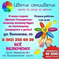 МИНИ - САД ЦВЕТИК СЕМИЦВЕТИК ,ВИЛОНОВА 20