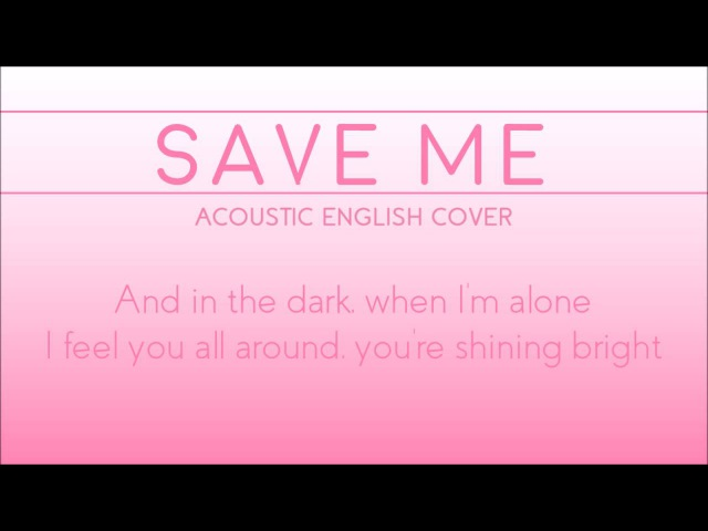 BTS Save Me acoustic english cover by Margot D R