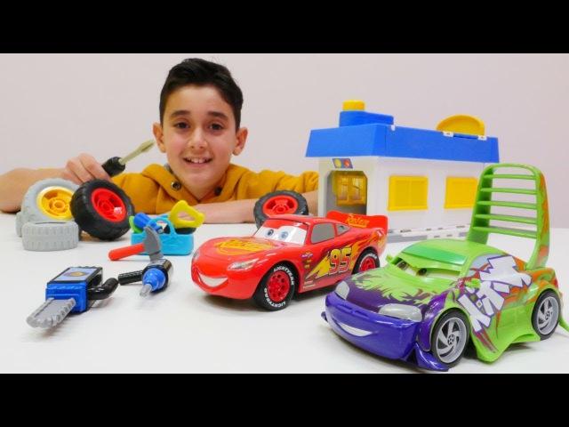 Oyuncak arabalar Şimşek McQueen ve arkadaşlar oto serviste