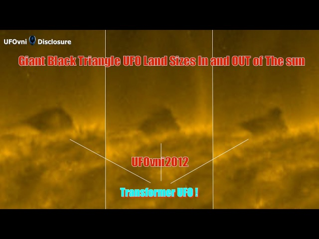 Giant Black Triangle UFO Land Sizes In and OUT of The Sun, July 10, 2017