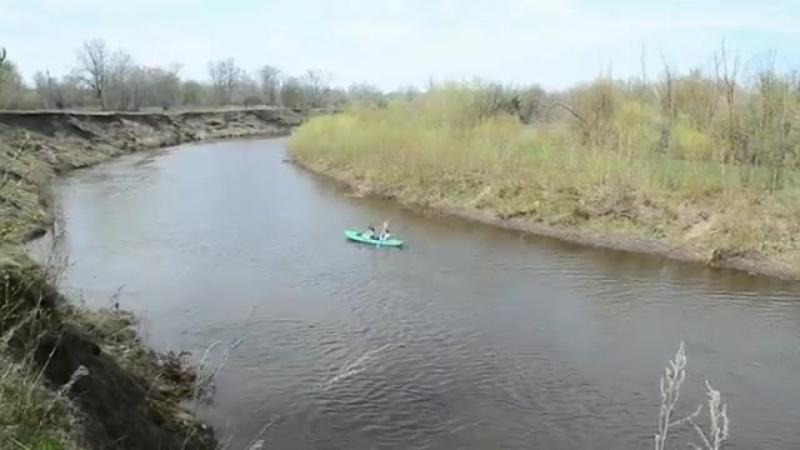 Самарская область Река Кондурча Весенние перекаты Май 2015 yaclip scscscrp