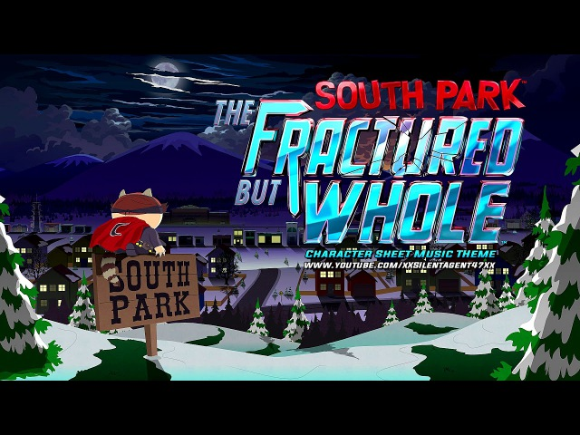 South Park The Fractured But Whole Character Sheet Music Theme