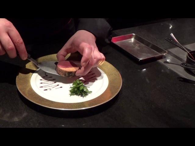 Semblat prepares Beef Rossini at L'Atelier Joël Robuchon Shanghai