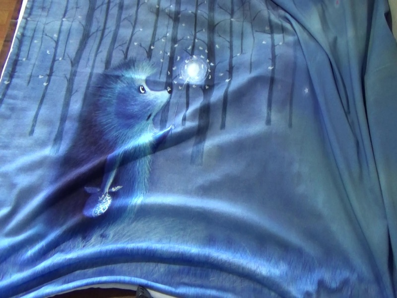 ежик  В наличии в группе https://vk.com/trikotagnie_tkani_v_kaluge ИДЕАЛЕН для пошива футболок
