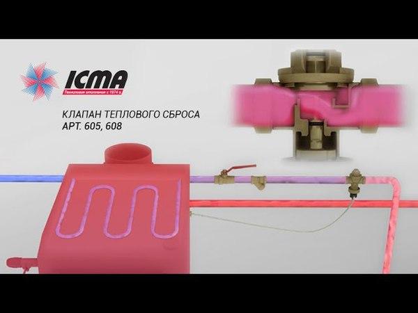 Клапан теплового сброса ICMA арт 605 608