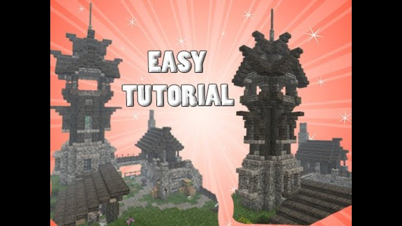 Minecraft: Tower Outpost House TUTORIAL! - Part 1/2