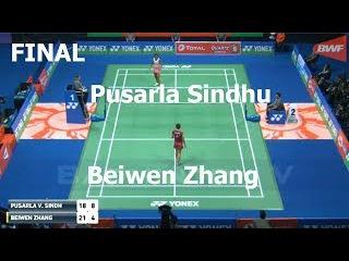 Beiwen Zhang vs Pusarla V. Sindhu Badminton 2018 India Open Final