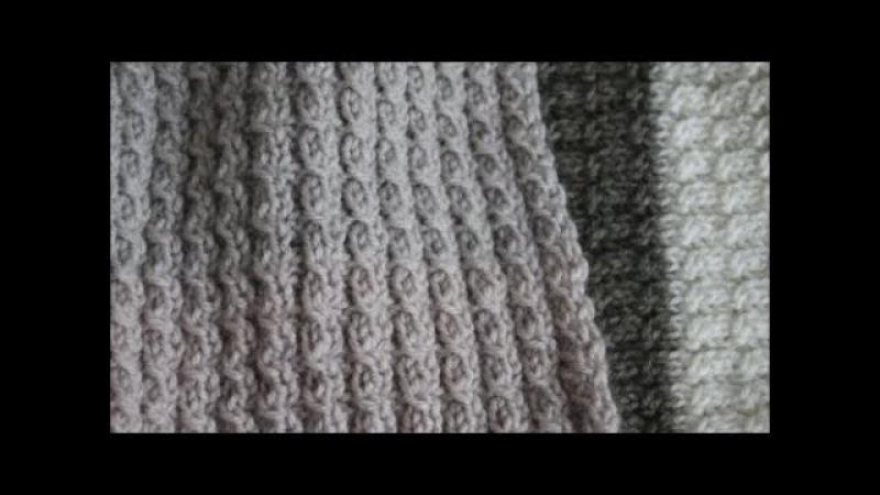Шарф двухсторонним узором Mелкие косички Узор очень простой