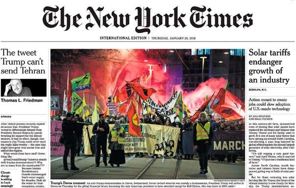 The New York Times International - Jan 25, 2018