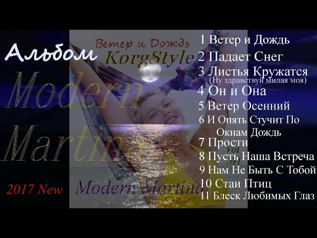 Modern Martina KorgStyle Korg Pa 900 Треки Вошедшие в Альбом EuroDisco 2017 New