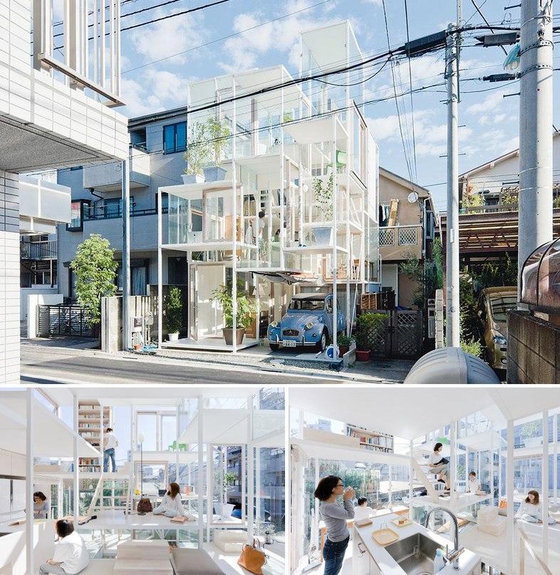 027c1fd0cea2 Здание находится на самой густонаселенной улице Токио. Здесь нет отдельных  комнат, но есть разные уровни и « ...