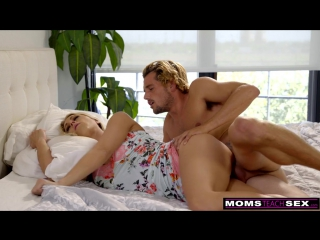 Momsteachsex mom and son share bed and fuck 720p