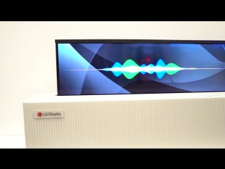 65 Rollable TV by LG Display Demo at CES 2018