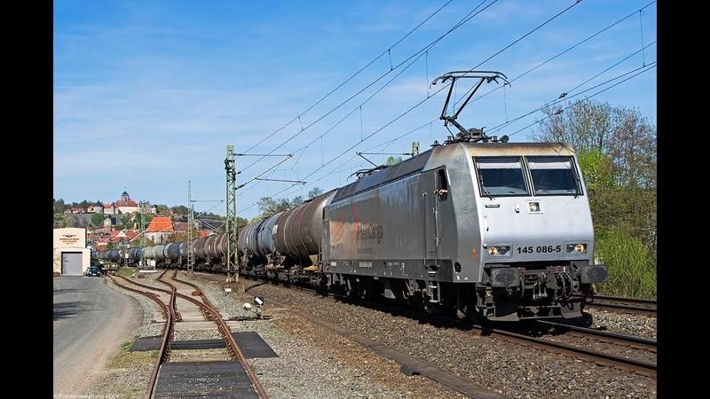 Güterzüge auf der Frankenwaldbahn DB Museum VT 18 16 HVLE EGP uvm