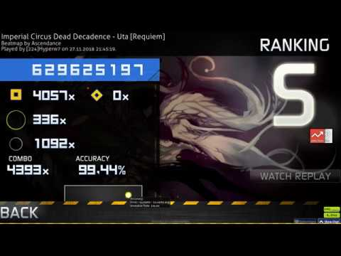 Osu catch 224 Hyperw7 ICDD Uta Requiem HD HR 99 44% 1 FC 1328pp